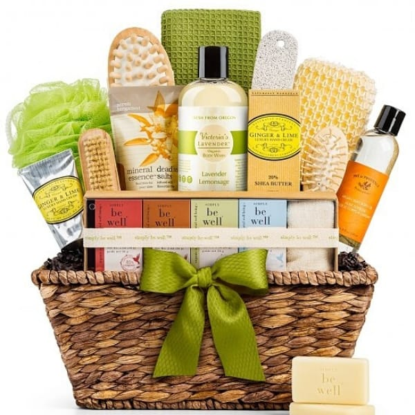 First Mothers Day Gift Basket: Pamper the new mom with a refreshing spa gift basket!
