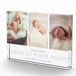 Love at First Sight Mother's Day Baby Photo Block