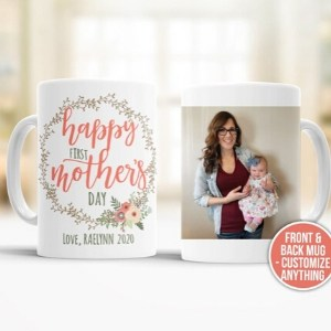 Personalized First Mothers Day Mug with Photo
