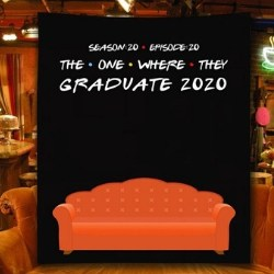 Personalized FRIENDS Grad Party Backdrop