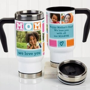 Personalized Photo Travel Mug for New Moms