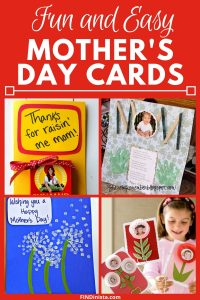 Easy Homemade Mothers Day Cards from the Kids - Looking for cute and easy Mother's day ideas from the kids? Delight Mom with one of these adorable DIY cards!
