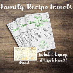Handwritten Recipe Tea Towels