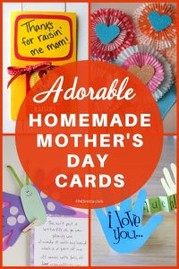 Homemade Mother's Day cards from Kids - Looking for cute and easy Mother's Day crafts for kids? They'll love making these adorable Mother's Day cards!