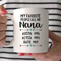 My Favorite People Call Me Nana Personalized Mug