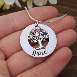 Nana Family Tree Birthstone Necklace