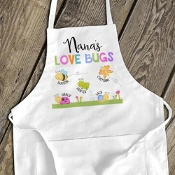 Personalized Apron with Grandkids Names