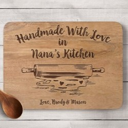 Personalized Handmade with Love Nana Cutting Board