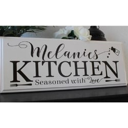 Personalized Kitchen Sign - Choice of Colors