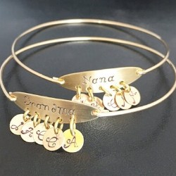 Personalized Nana Bracelet with Initial Charms