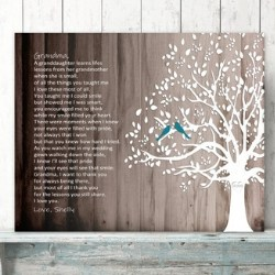 Personalized Thank You Nana Poem Wall Art