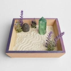 Crystal Zen Garden with Lavender Essential Oil
