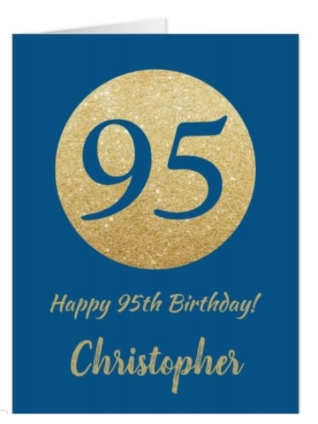 95th Birthday Greeting Card