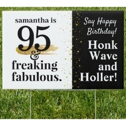 Funny 95th Birthday Yard Sign - Quarantine Birthday Parade