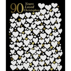 90 Years Loved Personalized Print
