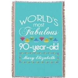 Personalized Awesome 90 Year Old Blanket - 3 Colors