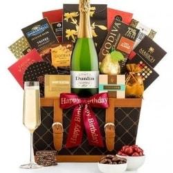 Birthday Champagne Gift Basket - Ships Free!