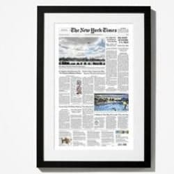 New York Times Front Page from the Day You Were Born Reprint