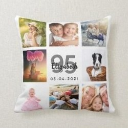 Personalized 95th Birthday Pillow with Photos