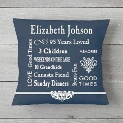 Personalized 95 Years of Memories Pillow - 4 Colors