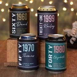 Personalized Birthday Beer Can Wrap - Under $10