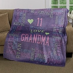 Personalized Blanket with Grandkids' Names -