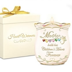 Personalized Candleholder for Mom with Kids' Birthstones