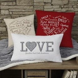 Heart of Love Pillow with up to 21 Names