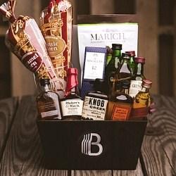 Whiskey Tasting Gift Basket for Men