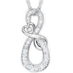 A Mother Holds Her Daughter's Heart Forever Diamond Infinity Necklace