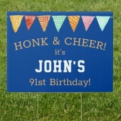 Personalized 91st Birthday Yard Sign