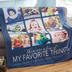 Favorite Things Photo Blanket - 5 Colors