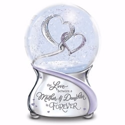 The Love Between a Mother and Daughter is Forever Musical Snow Globe
