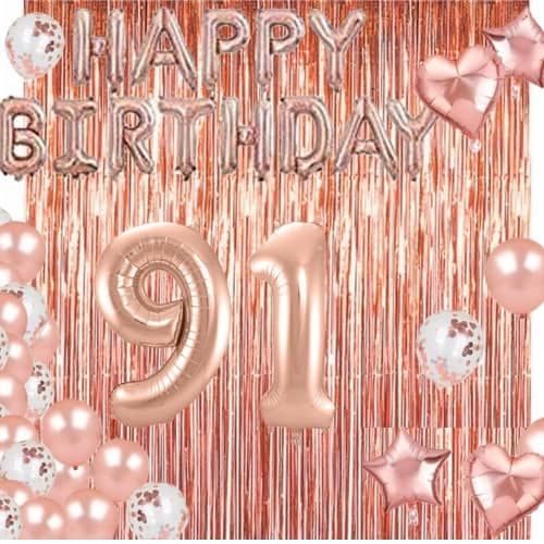 91st birthday ideas - Looking for great ways to celebrate a 91 year old birthday? These festive 91st birthday balloons are sure to be a hit!