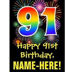 Personalized 91st Birthday Greeting Card