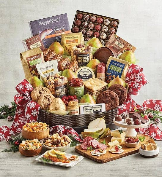 Whole Family Christmas Gift Ideas - Decadent Christmas gift basket delights everyone from toddlers to senior citizens!