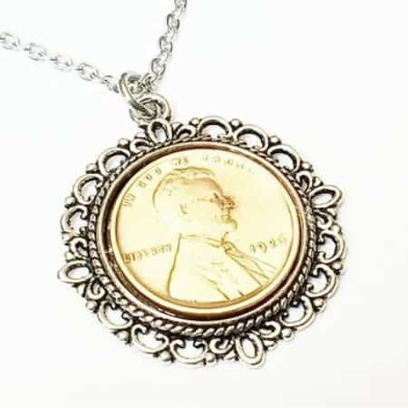 95th Birthday Necklace for Women - Impress a special 95 year old lady with this delightful 1926 penny necklace.