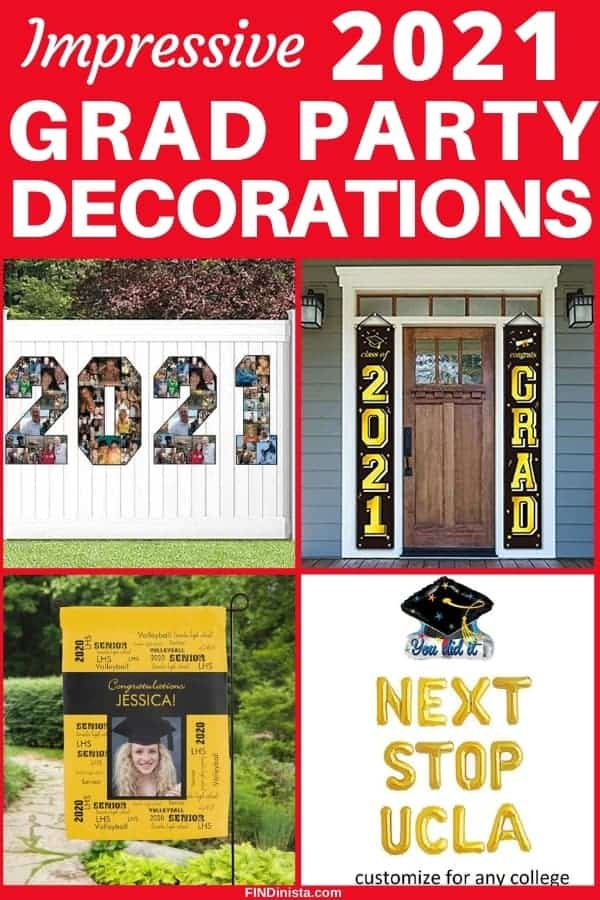 2021 Grad Party Decorations - Planning a graduation party for your son or daughter? Then you'll want to see these easy -but impressive - graduation party decorations!